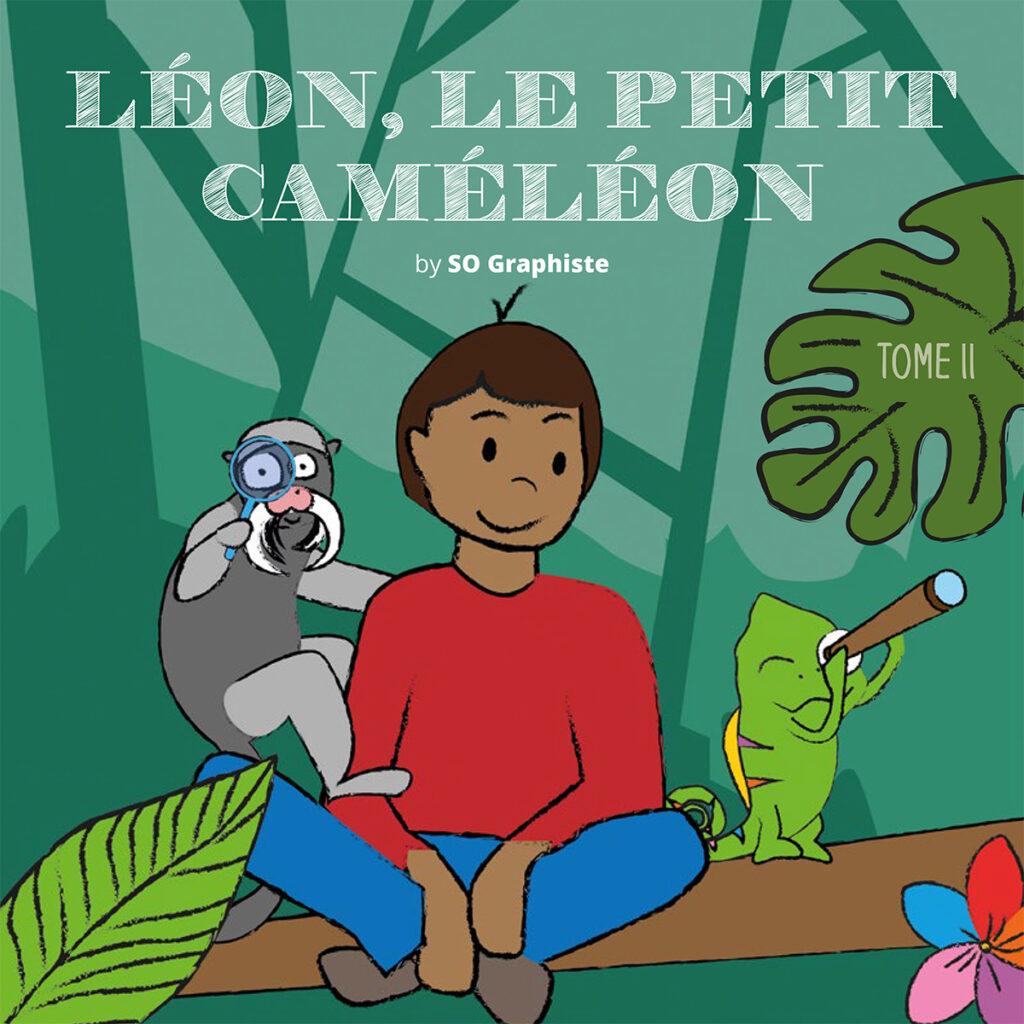 couverture du livre léon le petit caméléon